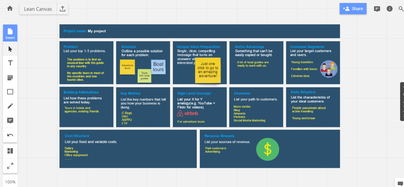 Work on your startup with Lean Canvas - RealtimeBoard