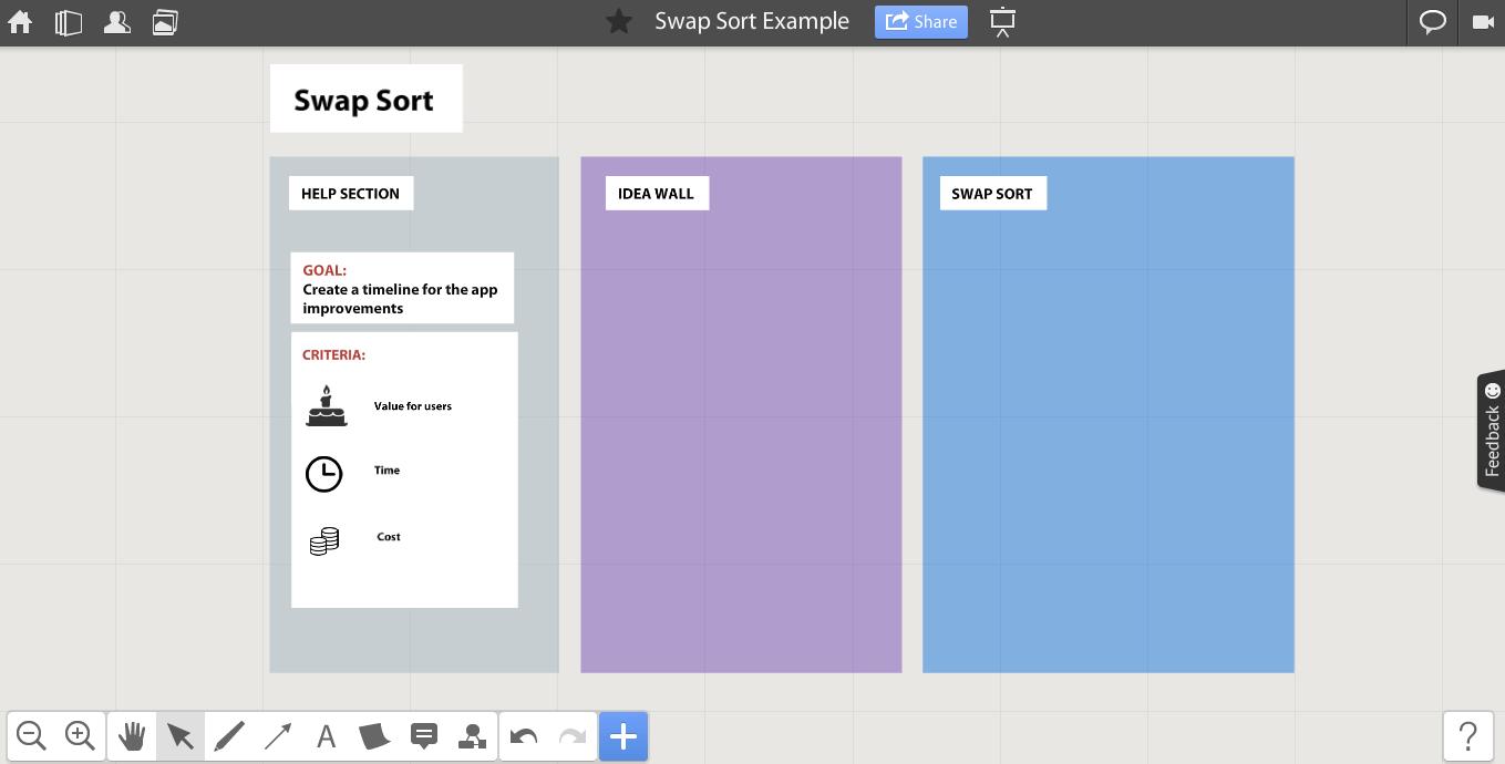 Preparation for swap sort - online whiteboard