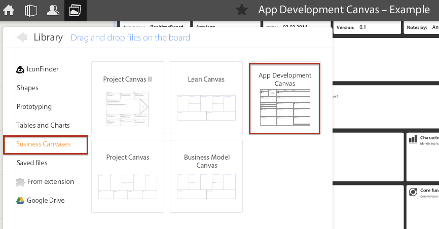 App Development Canvas Library