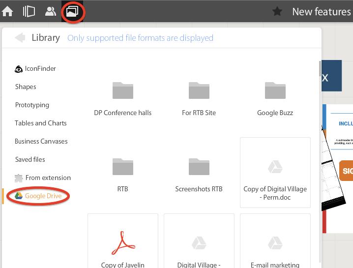 Google Drive folders RealtimeBoard