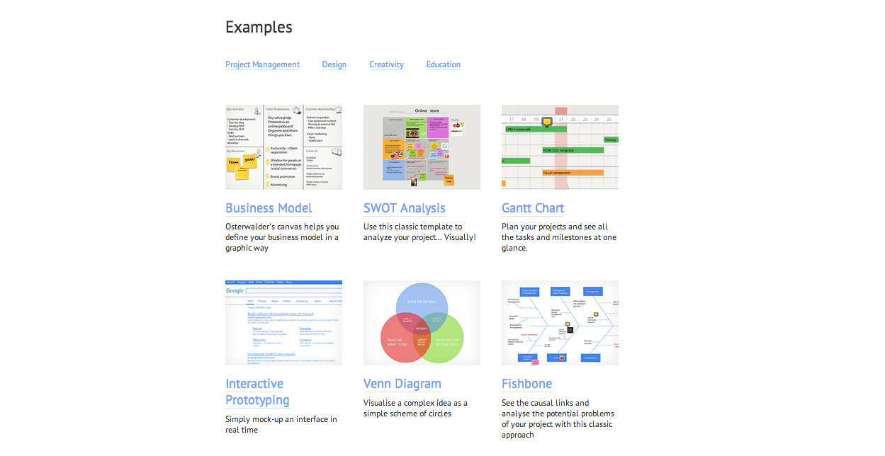 Examples RealtimeBoard