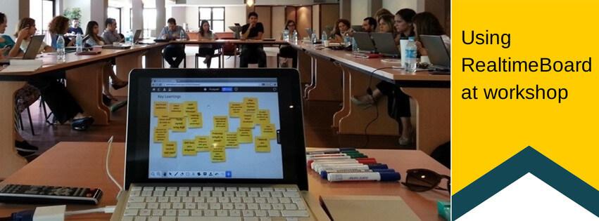RealtimeBoardbrainstorming session at workshop