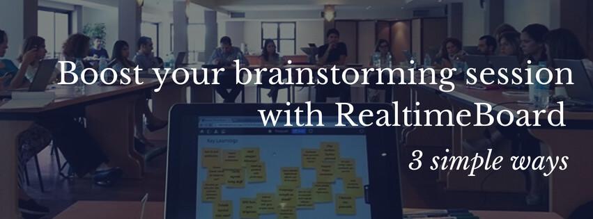 RealtimeBoard brainstorming