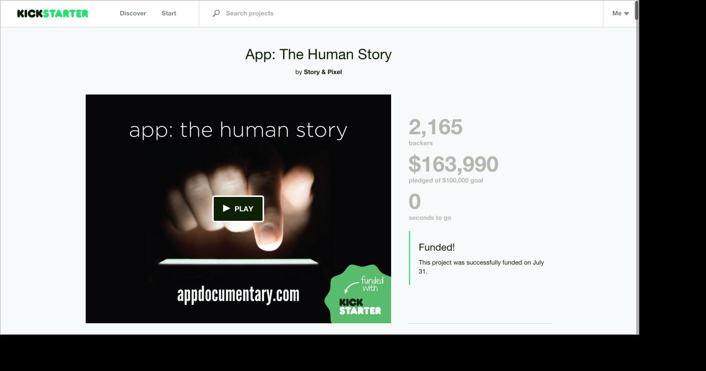 App The Human Story by Story Pixel — Kickstarter