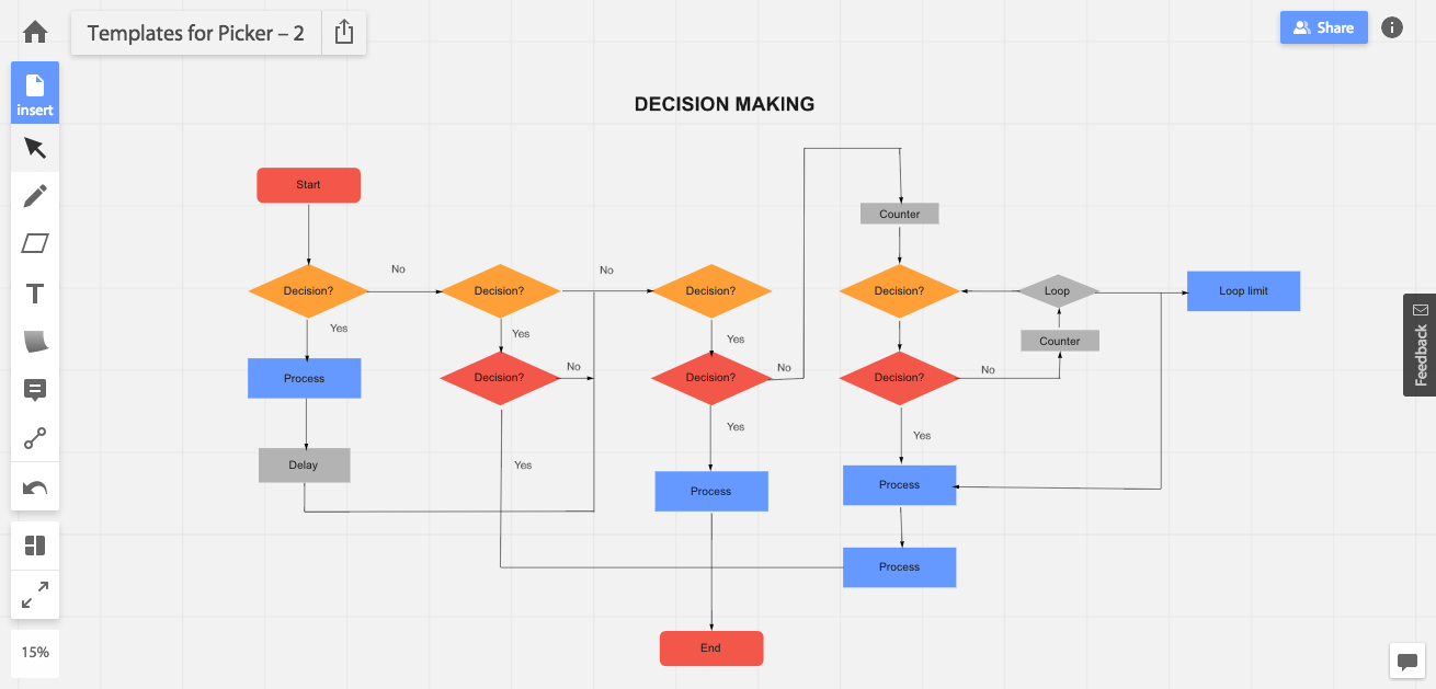 Create flowcharts online with RealtimeBoard new shapes