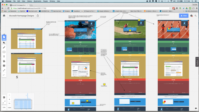 Remote collaboration on the wireframes