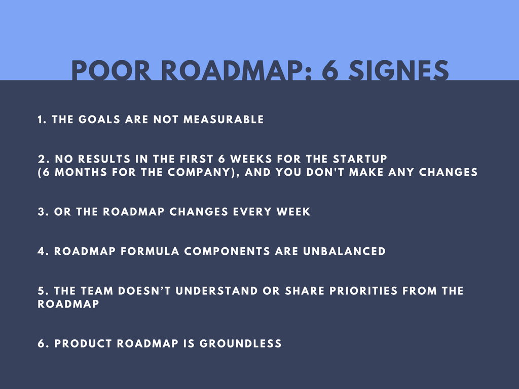 6 signes that your product roadmap that doesn't work