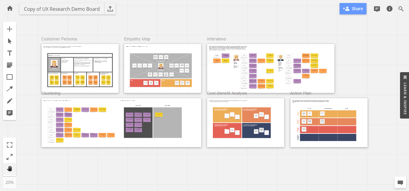 UX research virtual board