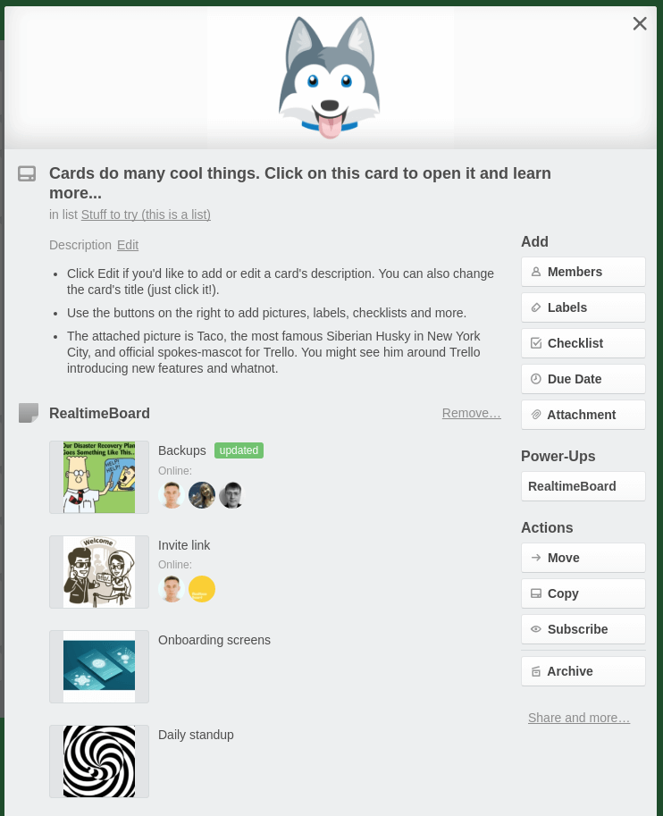 Miro integration with Trello boards