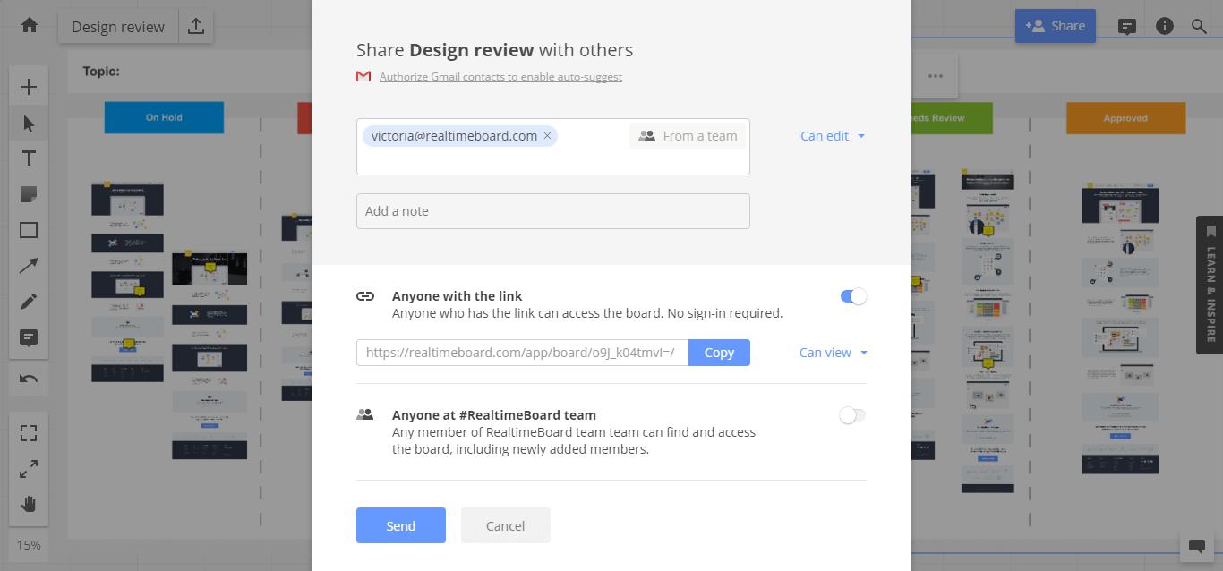 Share design review