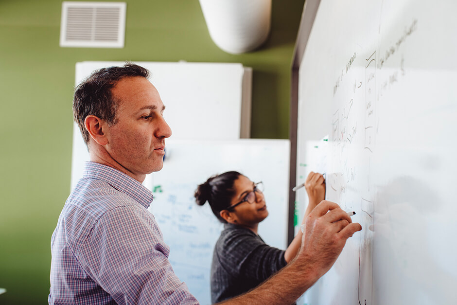 improved teamwork communications using a traditional whiteboard