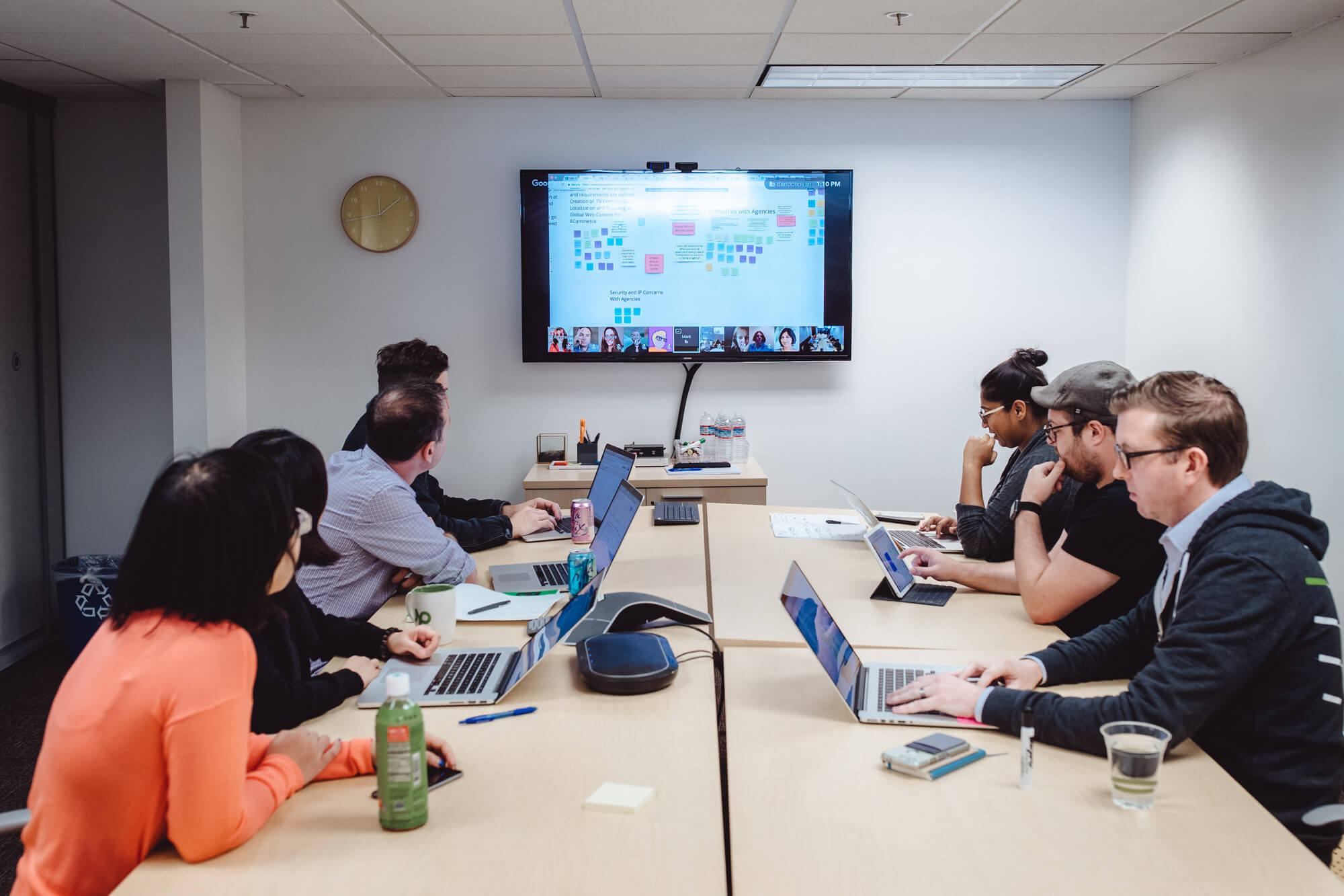 active team collaboration meeting using Miro