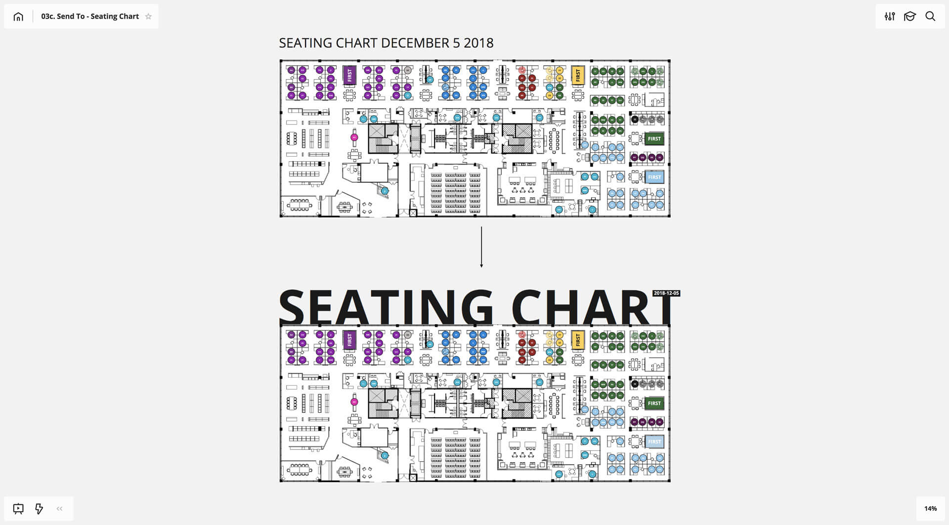 how to create a seating chart for your team in realtimeboard
