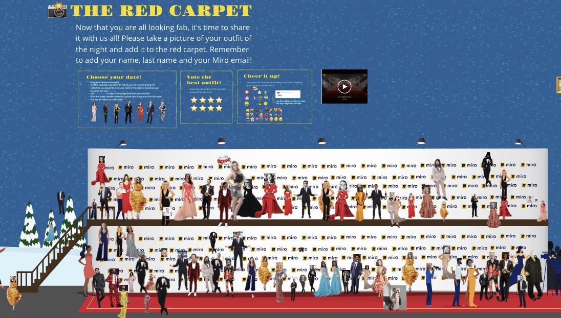 virtual red carpet in miro