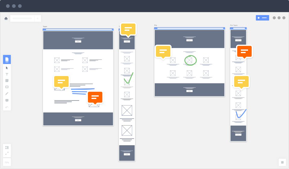Collaborate on wireframes with your team. UX tool, RealtimeBoard